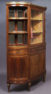 veneered with mahogany, brass, marble, Paris II half of the 19thC