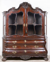 veneered with mahogany, brass, carvings, 18thC/19thC