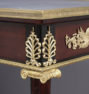 massif mahogany, table top marble, gilt bronze, II half of the XIX thC