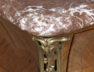 okleiny orzech i palisander, blat marmur, okucia brąz, Francja XIX w.
