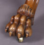 veneered with mahogany, richly carved, late 19 thC,
