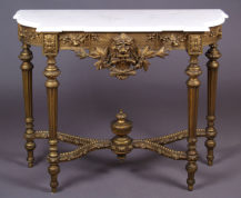 gildings, marble top, late 19thC