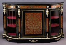 embellished with brass-inlaid and tortiseshell, gilt bronze, XIX thC