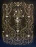 mahogany construction painted black, Ebonized with brass and ivory, c. 1900