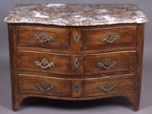 "pine-oak constriction, marlbe top, stamped ""CRIAERD"" and ""JME"", Paris c. 1760"