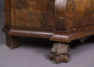 veneered with walnut, brass, carvings, early 20thC,