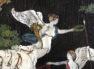 """Okleiny palisander, orzech i heban, inkrustacja z blachy mosiężnej, srebra, kości i masy perłowej. Sygnowany """"C.Plambeck Hamburg 1860"""""""