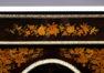 okleiny heban i mahoń intarsje z różnych gatunków drewna. Okucia wykonane z brązu, blat marmurowy, koniec XIX w.