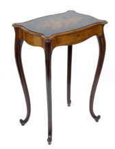 veneered with mahogany and rosewood, inlay from different kinds of wood, II half of the 19thC
