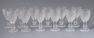 okleiny mahoniowe, mosiądz, szkło, Anglia pocz. XX w.