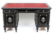 ebony veneers, carvings, bone marquetry, second half of the 19thC