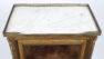 okleiny palisander, intarsje, blat marmur, mosiężne listwy i okucia, II poł. XIX w.