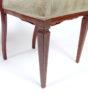 konstrukcja mahoniowa, intarsje z różnych gatunków drewna, snycerka, ok. 1900 r.