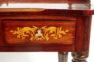okleiny palisander, snycerka, intarsje z różnych gatunków drewna, kon. XIX w.