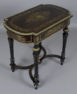Beech and mahogany construction, veneered with ebony and rosewood, brass, 2nd half of 19th c.
