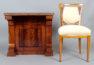 okleiny mahoniowe, drewniane żyłki, snycerka, ok. 1830r.