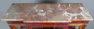 konstrukcja mahoniowa, mosiężne listwy i okucia, blat marmur,