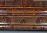 okleiny mahoniowe, drewniane żyłki, mosiężne kluczyny, połowa XIX w.