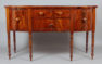 obłoga mahoniowa, intarsje z różnych gatunków drewna, Anglia ok. 1830r.