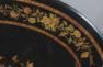 okleiny heban, intarsje z różnych gatunków drewna, II poł. XIX w.