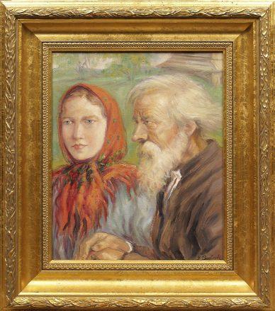 olej/karton syg. J. Pawłowski wym. 42 x 34 (63 x 55) cm