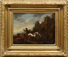 oil/canvas, ca c1800, not signed,