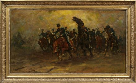 oil on canvas, sig. G. Flasschoen