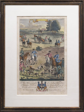 hand painted engraving, Richard Blome, London late 17thC