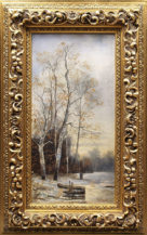 """oil on canvas, sig. """"H.Merville"""" end of 19thC"""