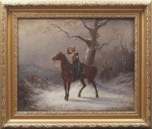 oil on canvas, sig. E Dittmann