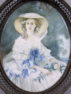 Gouache on ivory, bronze frame, c. 1900