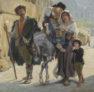 oil on cavnas c. 1900 sig. l.d. F. Schlesinger