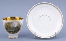 miniatury ręcznie malowane, złocenia, XIX/XX w.