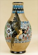 Partly glassed ceramic, enamels, Czecho-Slowakia, 1918-1939.