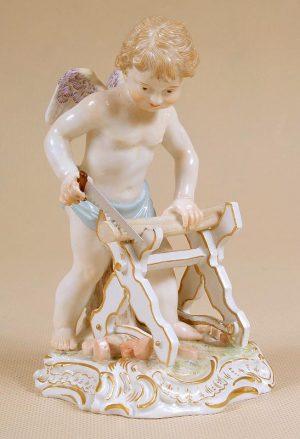 porcelain, Meissen end of XIX thC