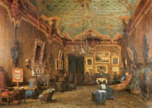 Salon księżnej Elżbiety Aleksandry Clary-Aldringen's, w Wenecji, około 1865r.