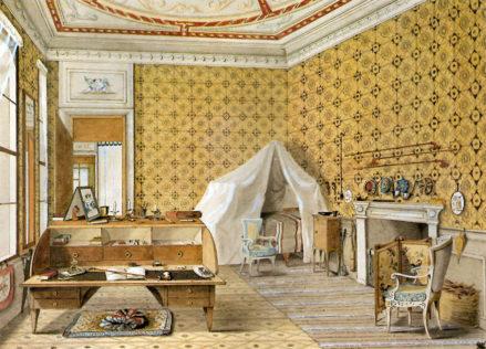 Sala sypialna Barona Ferdinanda Hildprandta w Wenecji, 1843r.