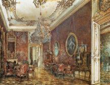 Salon Buquoy w Pałacu Wiedeńskim, 1881r.