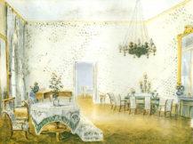 Wielki Salon Kinskich na zamku w Kostelec nad Orlici, około 1847r.