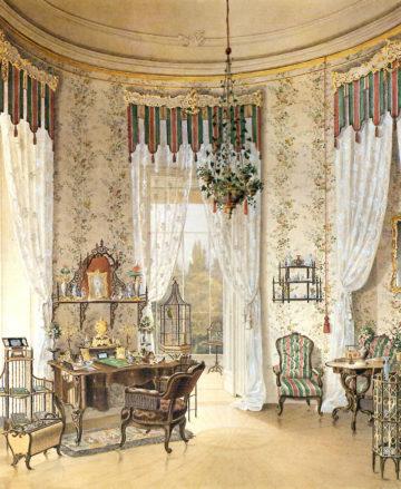 Salon w pałacu rodziny Buquoy w Nové Hrady, 1847r.