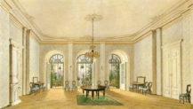 Salon w pałacu rodziny Buquoy w Nové Hrady, 1849r.