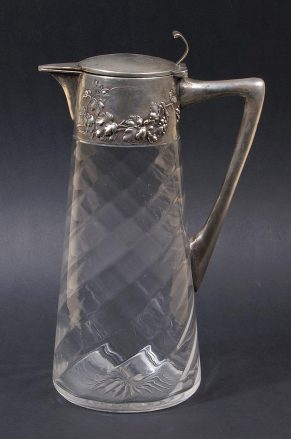 silver, glass, Germany c1899