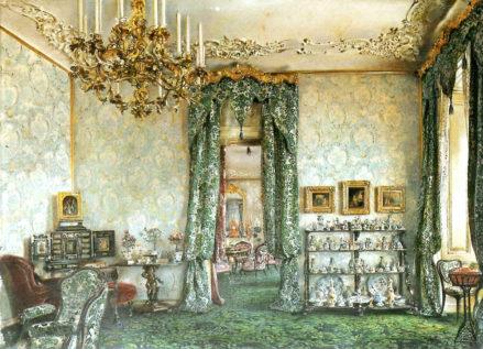 Salon Buquoy w Pałacu Wiedeńskim (druga połowa pokoju), 1851 r.