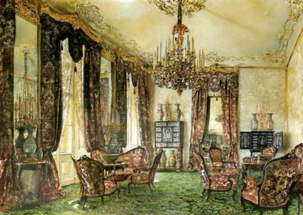 Salon Buquoy w Pałacu Wiedeńskim (pierwsza połowa pokoju), 1851 r.