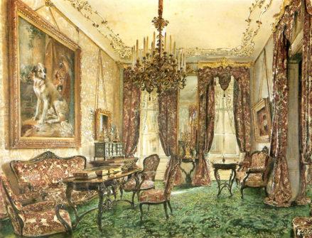 Salon Buquoy w Pałacu Wiedeńskim, 1851r.