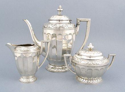 Srebrny komplet do herbaty