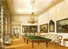 Salon bilardowy w pałacu rodziny Buquoy w Nové Hrady