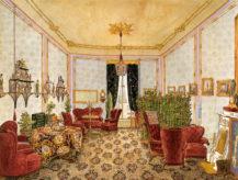Salon pałacu Černínsky w Pradze, 1853r.
