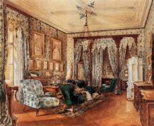 Sypialnia hrabiny Marii Teresy Cernin, Orsini-Rosenberg, Wiedeń, 1867r.