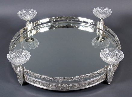 silverplatedware, crystal Baccarat, XX thC